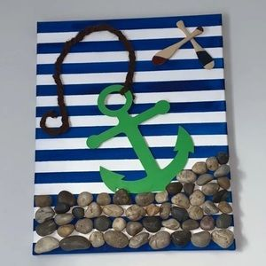 Nursery/ home Nautical paintings bundle (2)